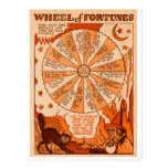 Retro Vintage Kitsch Halloween Wheel of Fortunes Postcard