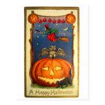 Retro Vintage Kitsch Happy Halloween Card Postcards