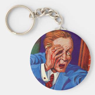 Retro Vintage Kitsch Horror My Eye! My Eye! Keychain