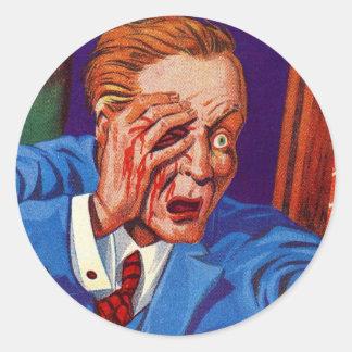 Retro Vintage Kitsch Horror My Eye! My Eye! Sticker