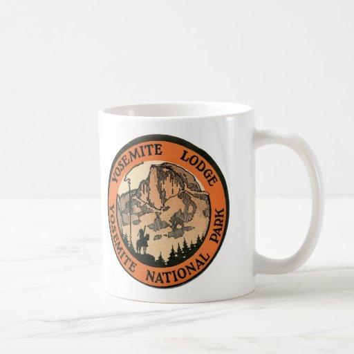 Retro Vintage Kitsch Hotel Yosemite Lodge Tag Coffee Mug