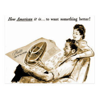 Retro Vintage Kitsch How American Is It To Want... Postcard