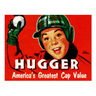Retro Vintage Kitsch Hugger Americas Greatest Cap Postcard