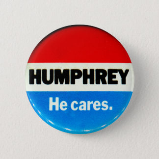 Retro Vintage Kitsch Humphrey 'He Cares' Button