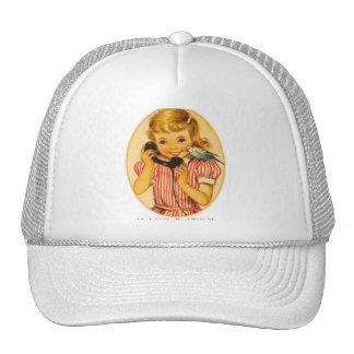 Retro Vintage Kitsch Kids A Little Bird Told Me Hats