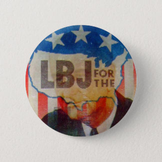 Retro Vintage Kitsch LBJ Flasher Political Button