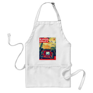 Retro Vintage Kitsch Military Radio Craft TV War Adult Apron