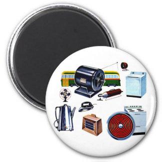 Retro Vintage Kitsch Modern Appliances 6 Cm Round Magnet