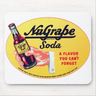 Retro Vintage Kitsch NuGrape Grape Soda Pop Sign Mouse Pad