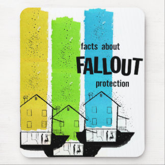 Retro Vintage Kitsch Nukes Facts About Fallout Mouse Pad