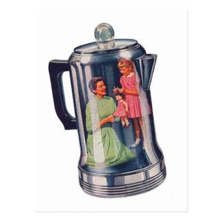 Retro Vintage Kitsch 'Percolator Coffee Mama' Postcard