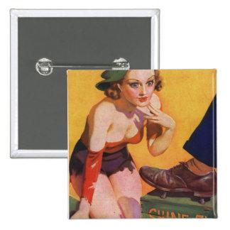 Retro Vintage Kitsch Pin Up 30s Shoe Shine 5¢