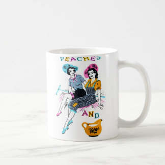 Retro Vintage Kitsch Pin Up Peaches and Cream Coffee Mug