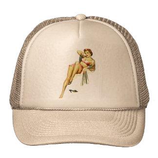 Retro Vintage Kitsch Pin Up Pinup Girl Loose Shoe Mesh Hat