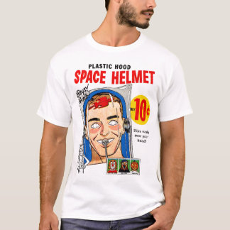 Retro Vintage Kitsch Plastic Hood Space Mask Toy T-Shirt