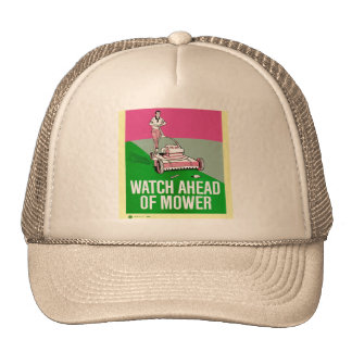 Retro Vintage Kitsch Poster Watch Ahead of Mower Cap