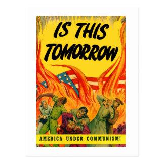 Retro Vintage Kitsch Propoganda Communism! Postcard