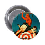 Retro Vintage Kitsch Pulp Hot Stories Magazine Pin