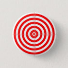 Retro Vintage Kitsch Red Archery Target Bullseye 3 Cm Round Badge