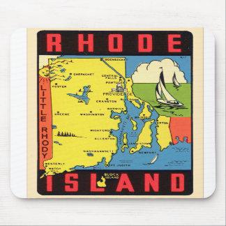Retro Vintage Kitsch Rhode Island Rhody Decal Mousepads