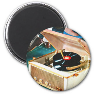 Retro Vintage Kitsch Rock & Roll Record Turntable Magnet