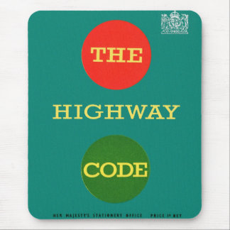Retro Vintage Kitsch Safety The Highway Code UK Mouse Pad