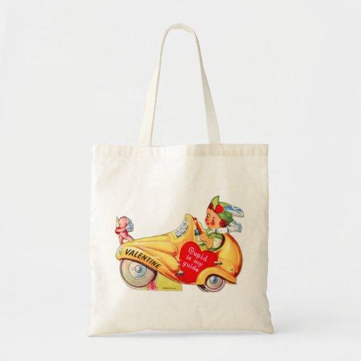 Retro Vintage Kitsch School Valentine Cupid Tote Bag