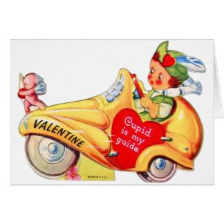 Retro Vintage Kitsch School Valentine Cupid Greeting Card