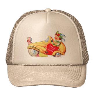 Retro Vintage Kitsch School Valentine Cupid Trucker Hat