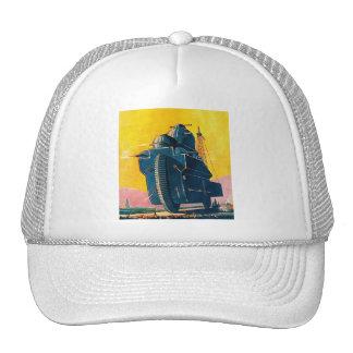 Retro Vintage Kitsch Sci Fi 20s War Machine Hat