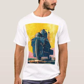 Retro Vintage Kitsch Sci Fi 20s War Machine T-Shirt