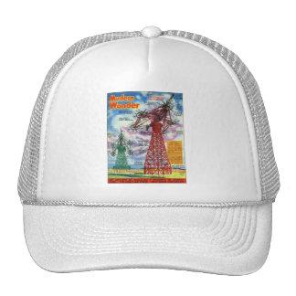 Retro Vintage Kitsch Sci Fi 30s Modern Wonder Mesh Hats