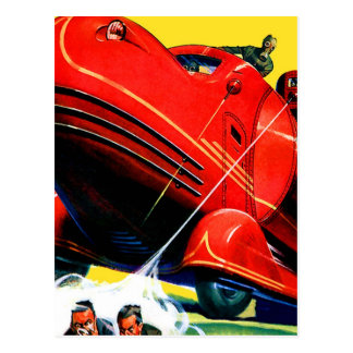 Retro Vintage Kitsch Sci Fi 30s Riot Control Post Cards
