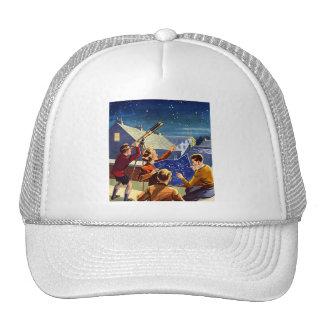 Retro Vintage Kitsch Sci Fi 40s Kids Telescope Trucker Hat