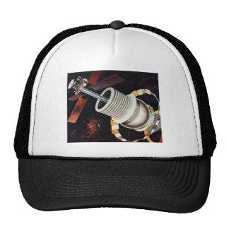 Retro Vintage Kitsch Sci Fi Future Space Colonies Trucker Hat