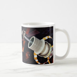 Retro Vintage Kitsch Sci Fi Future Space Colonies Mugs