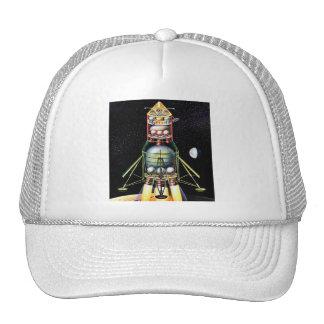 Retro Vintage Kitsch Sci Fi Lunar Module Trucker Hat