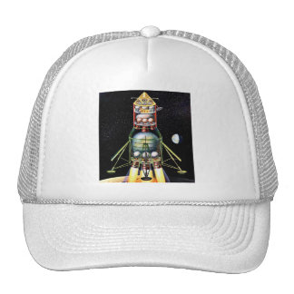 Retro Vintage Kitsch Sci Fi Lunar Module Trucker Hats