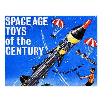 Retro Vintage Kitsch Sci Fi Space Age Toys Mach-X Postcard