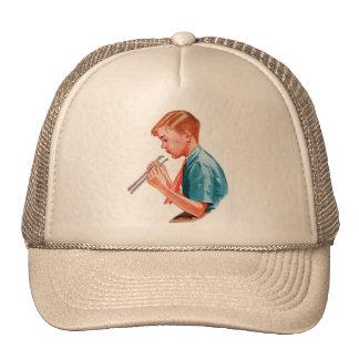 Retro Vintage Kitsch Science School Book Art Boy Trucker Hat