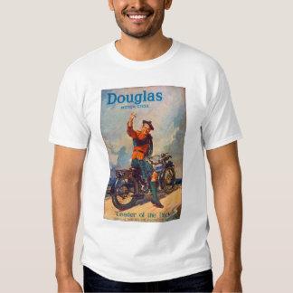 Retro Vintage Kitsch Scot Douglas Motorcycle Ad Tee Shirt