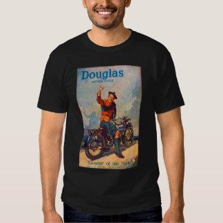 Retro Vintage Kitsch Scot Douglas Motorcycle Ad Tee Shirts
