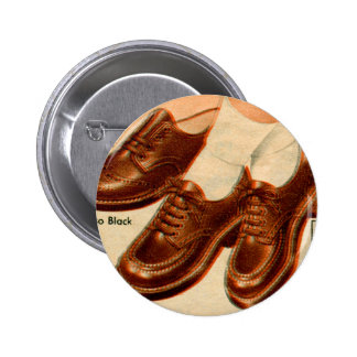Retro Vintage Kitsch Shoe Kid s Shoes Catalog Art Pinback Button