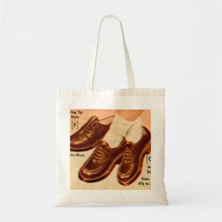Retro Vintage Kitsch Shoe Kid s Shoes Catalog Art Canvas Bag