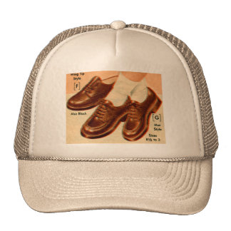 Retro Vintage Kitsch Shoe Kid s Shoes Catalog Art Mesh Hats