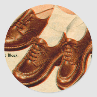 Retro Vintage Kitsch Shoe Kid s Shoes Catalog Art Stickers
