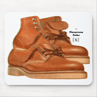 Retro Vintage Kitsch Shoes Men s Boots Neoprene Mouse Pads