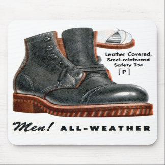 Retro Vintage Kitsch Shoes Men s Boots Steel Toe Mousepad