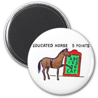 Retro Vintage Kitsch Sideshow 'Educated Horse' Magnet