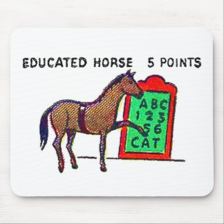 Retro Vintage Kitsch Sideshow 'Educated Horse' Mouse Pad